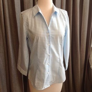 Orvis Gingham Button Down 3/4Sleeve